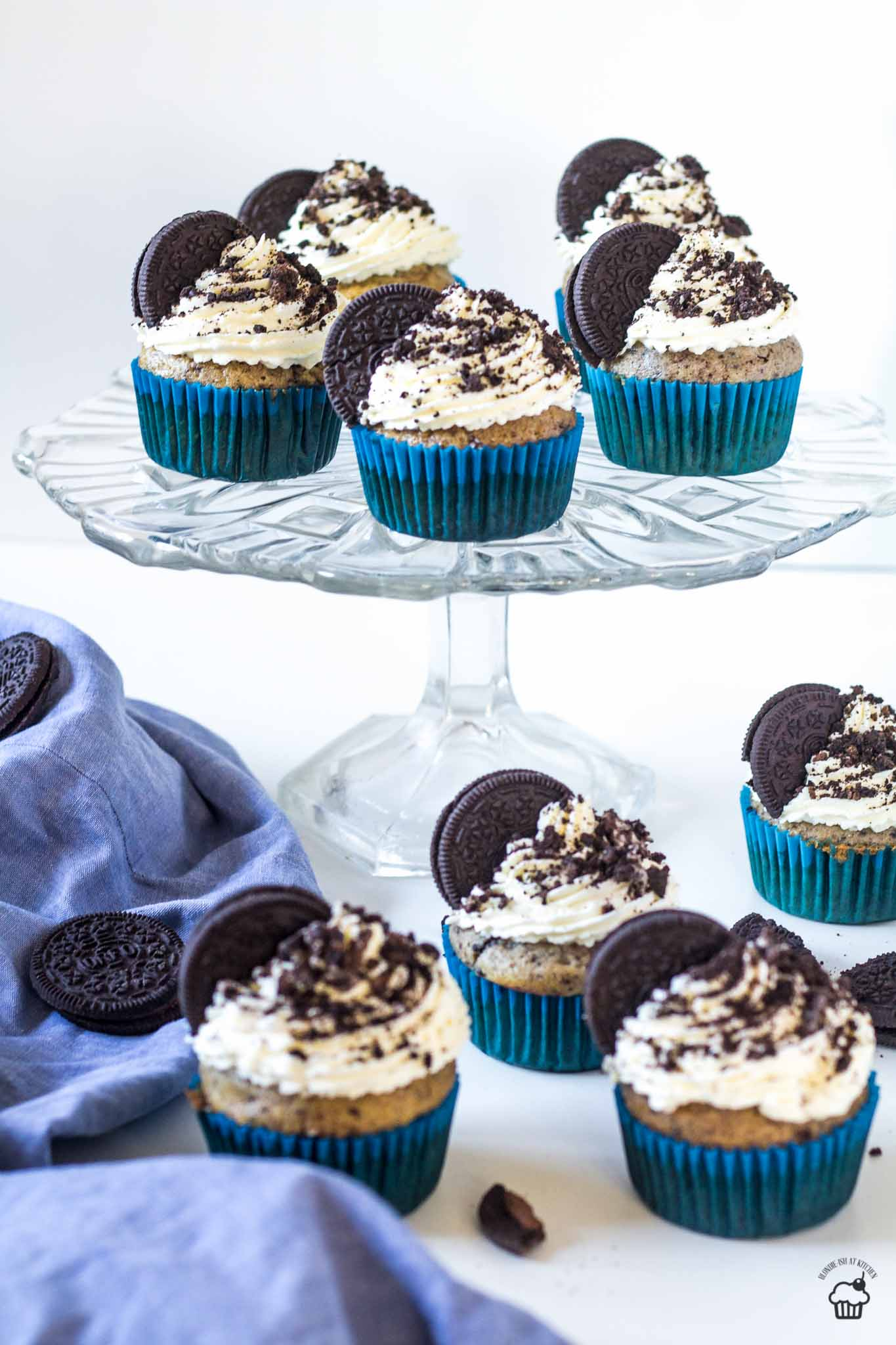 Oreo cupcakes s mascarpone krémom