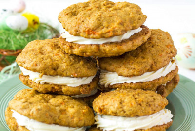 mrkvové cookies plnené krémom