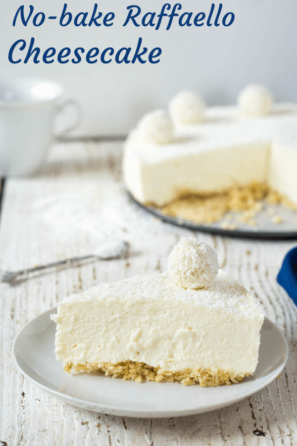 nepečený raffaello cheesecake