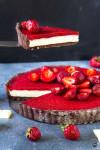 jahodový tart s bielou čokoládou