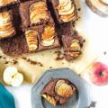 čokoládovo jablkový koláč bez múky