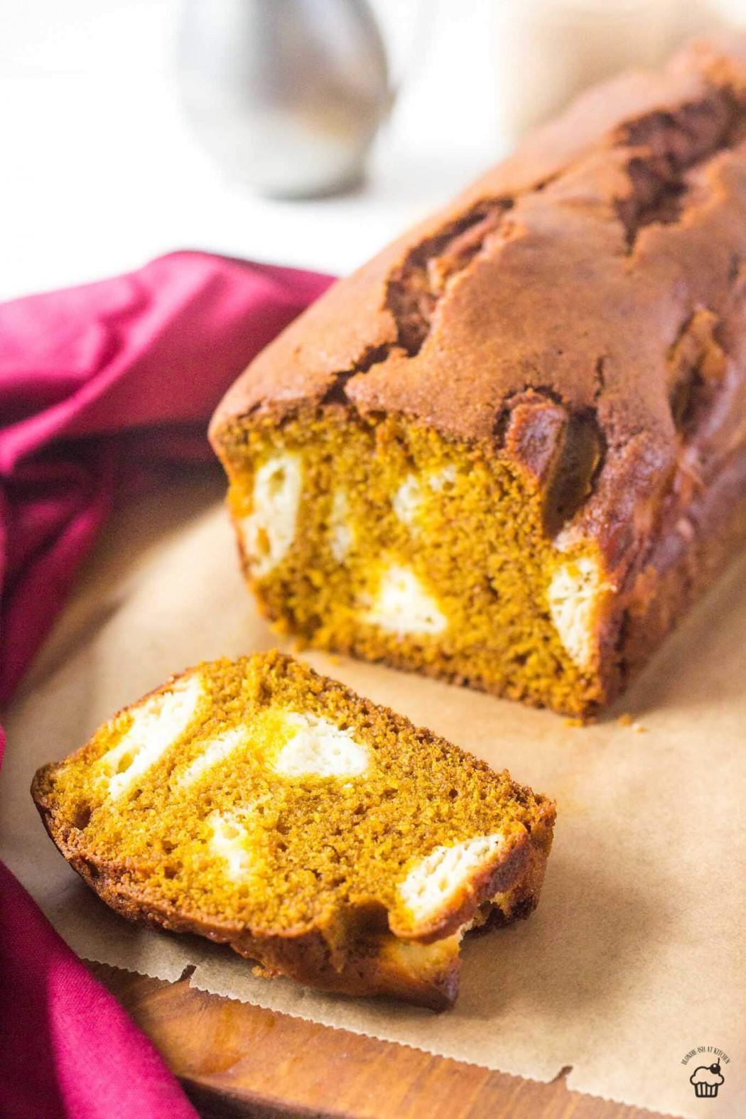 tekvicový cheesecake chlebík