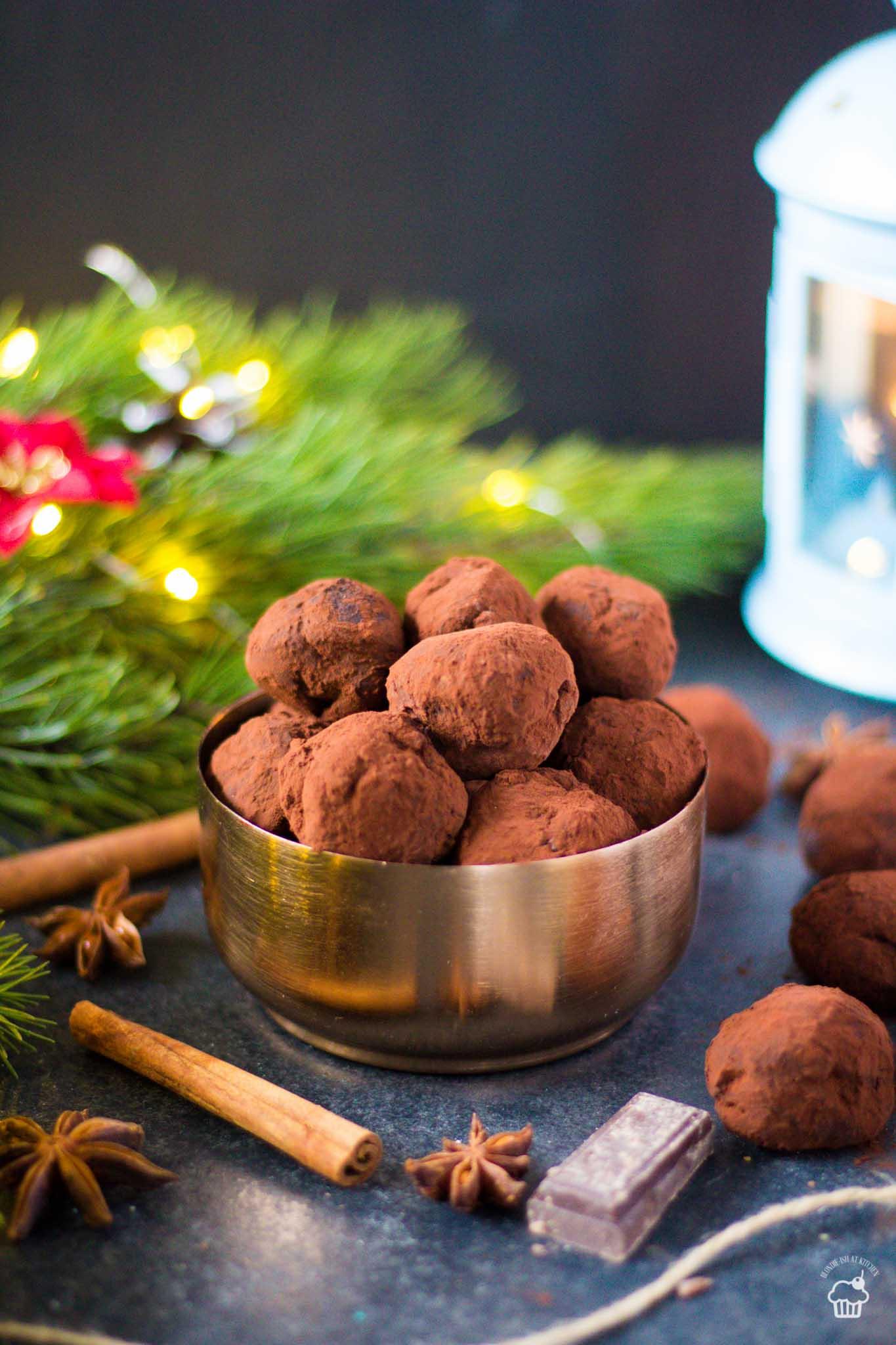 čokoládovo - perníkové truffles guľky