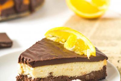 pečený čokoládovo pomarančový cheesecake