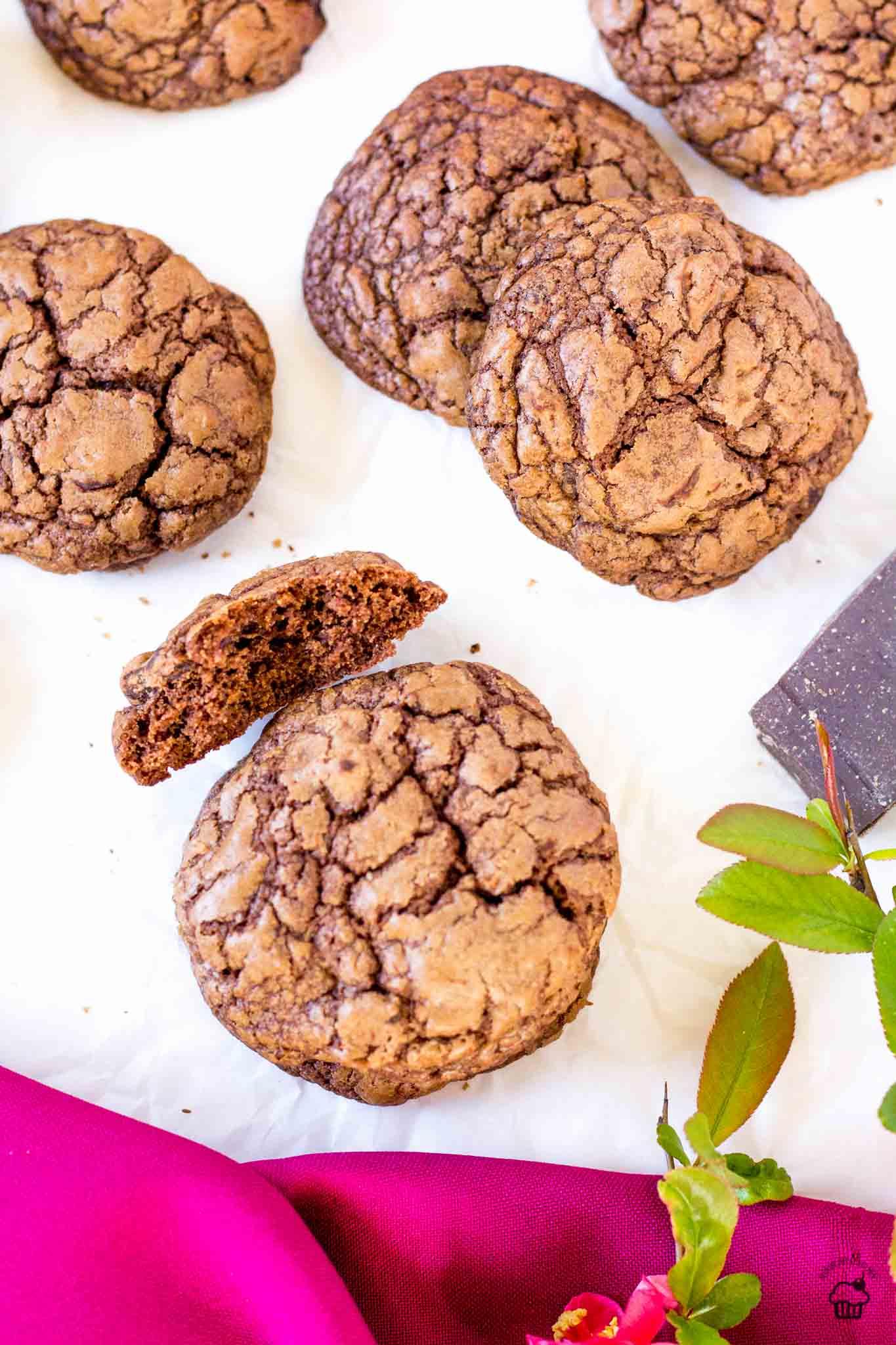 brownie cookies s dvoma čokoládami