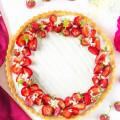 jahodovo bazový tart